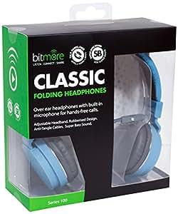 6c0f47b1dbc721 Bitmore Classic Over-Ear Headphone with In Line: Amazon.co.uk ...