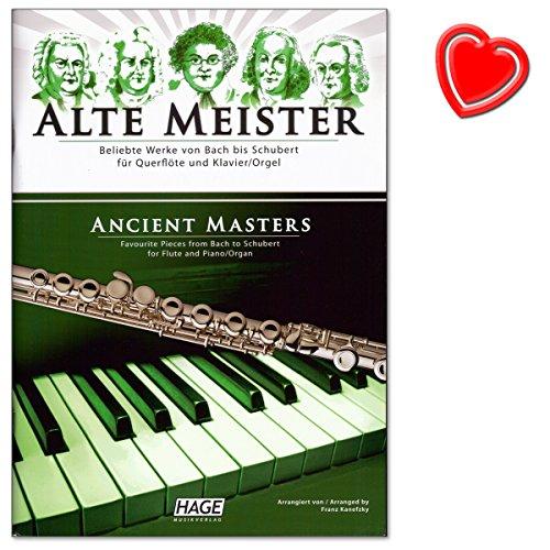 Alte Meister für Querflöte und Klavier - erstklassige Sammlung von 29 klassischen Werken von Bach über Haydn und Mozart bis Schubert, mit Werken von Barock bis Romantik - Notenbuch mit Notenklammer