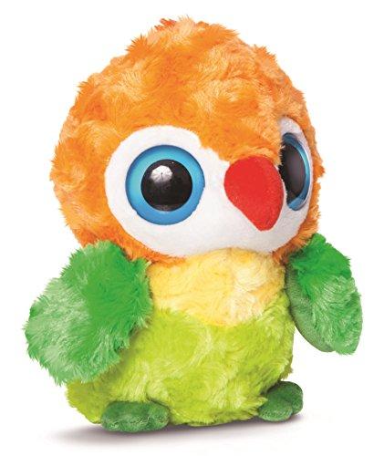 yoohoo-friends-pluschtier-orange-gruner-liebesvogel-papagei-kuscheltier-ca-20-cm