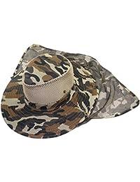 Fletion Outdoor della giungla camuffamento cappello pescatore cappello  sciarpa protezione solare cappello Anti Mosquito Ape per pesca… 480d623bf65b