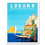Wee Blue Coo LTD Vintage Travel Switzerland Buzzi Lugano