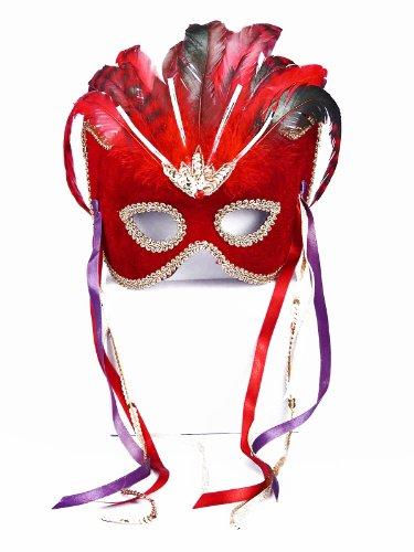 Forum Neuheiten Rot venezianischen Maske Halloween Kostueme Maske Gesicht Maske Over-the-Head-Maske Kostuem Stuetze fuer Maskerade Make-up Party (Forum Neuheiten Kostüm)