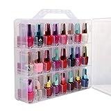 cuffslee Universele nagellak opbergdoos nagellak organizer houder 48 flessen verstelbare verdeler transparante bewaarkoffer voor nagellak