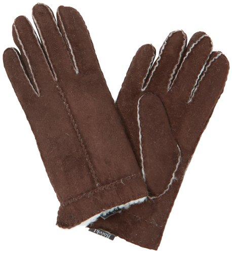 Roeckl Damen Handschuh Flechtnaht Lammfell 13013-646, Gr. 6.5, Braun (790)