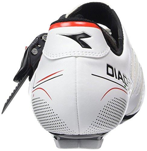 Diadora Trivex Plus Ii, Scarpe da Ciclismo Unisex – Adulto Bianco (weiß/schwarz/rot1470)