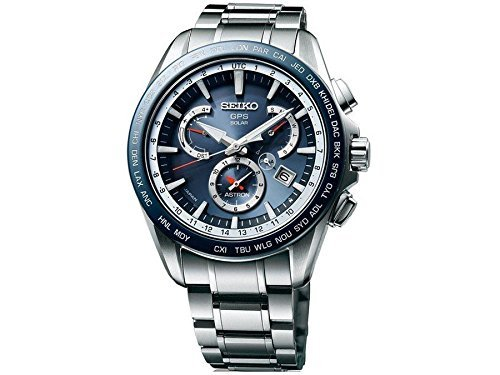 Seiko Astron GPS Herren Solar Titan Dual Time Uhr, sse053
