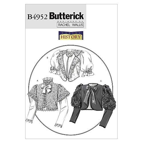 Butterick Patterns - Cartamodello per giacche in stile vittoriano con dettagli in pelle di montone, taglia