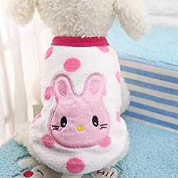 sunnymi Fashion Cute Little Solid Pet Dog Clothing Lovely Small Puppy Pet Dog Cat Winter Warm Classic Sweater Clothes Costume Apparel For Walking Jogging(XXS XS S M L XL XL XXL XXL)