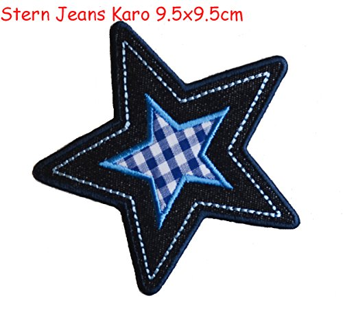4cdd30a1a38a8 2 high-quality hand-laid applique patches Fairy Katie 7x11 and Star Jeans  diamonds