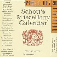 Schott's Miscellany 2009 Calendar