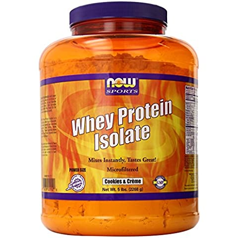 Now Foods Whey Protein Isolate Nutritional Supplement, Cookies 'N' Creme,