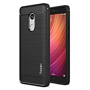 Photron Xiaomi Redmi Note 4 Slim Armor Carbon Fibre TPU Shock Proof Rugged Back Case Cover, Metallic Finish, Carbon Black