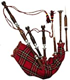 NEW GREAT HIGHLAND BAGPIPE ROSEWOOD FULL SIZE SILVER MOUNTS NATURAL/SCOTTISH BAGPIPES/DUDELSACK