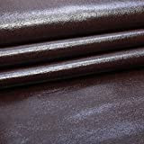 SAE Fabrics Upholstery Rexine Fabric/Artificial Leather Sheet - 140 cms Width - PU Mix, Glossy Finish - 1 Meter Multiple - Color: Light Brown