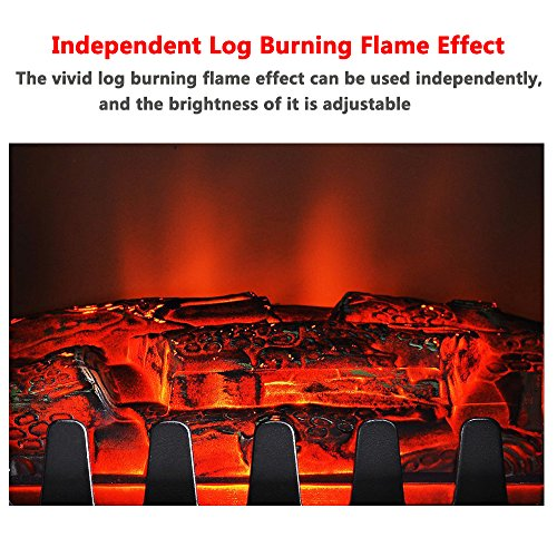 Fam Famgizmo Electric Fireplace 1850w Freestanding Log Burning Flame Effect Electric Fire Place With Adjustable Thermostat Uk Appliances Direct
