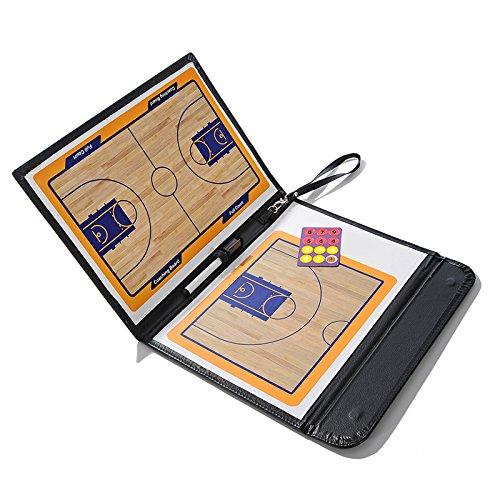 GUANLIAN Magnetische Taktiktafel für Basketballtrainer Faltbare Strategie-Zwischenablage mit einem Schreibwischstift