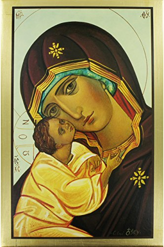 - SYMBOL Druck Madonna/Kind Goldkante cm 33x 22