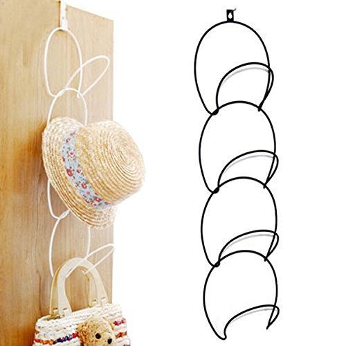 (EEvER Thanksgiving-Dekoration für drinnen/draußen Hats Kleidung Tie Interlink Halter, Draht stapelbar Lagerregal Küche Organizer Tür Wand Haken (Farbe : White))
