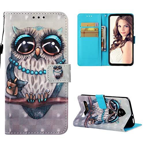 für Motorola Moto Z4 Play Lederhülle Wallet Case Flipcase 3D Effekt PU Leder Hülle Brieftasche Book Tasche Ledercase Handyhülle Schutzhülle Handytasche Ständer Handyschale