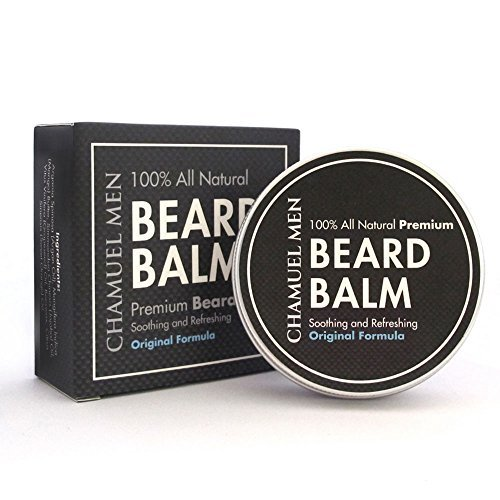 Beard-Balm-Use-Chamuel-Mens-All-Natural-Leave-In-Conditioner-to-Moisturize-Seal-and-Style-Your-Beard-Absorbs-Quickly-and-Keeps-Your-Beard-Looking-Great-All-Day-Long-LARGE-2oz50g-Tin