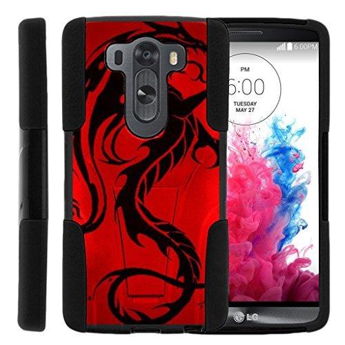 turtlearmor | LG V10Fall | LG G4Pro Case [Gel Max] Hybrid Dual Layer Hard Shell Ständer Silikon Fall -, Red Dragon (Lg Optimus G Coole Handy-fällen)
