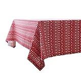 GAOYU Red Casual Dining Tablecloth Pastoralen Baumwolle und Leinen Platz Tablerectangular Dinning Tischdecke Abdeckung Couchtisch Tuch,140 * 250cm