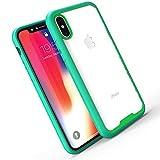 Slynmax Coque iPhone X Vert Coque iPhone 10 Housse Luxe Transparente Souple Ultra...
