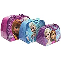 Girls Set Of 3 Train Cases Disney New Frozen Elsa Anna Trinket Storage Boxes