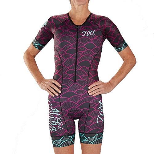 Zoot Damen Triathlon Rennanzug W LTD Tri SS Aero Racesuit - Aloha 19 XS