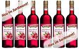 WERDER 6 x Fruchtwein Himbeere 0,75 l Alk. 8,5 % vol