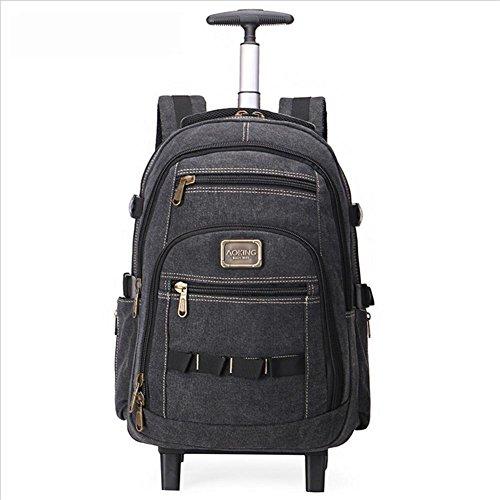 Backpack Zaini leggero Rotazione a 2 ruote a 360 ° Il computer portatile Rucksack 15.6 Zaino per Attività commerciale/ Viaggio/ Bagaglio / Valigia , black , 22 inches
