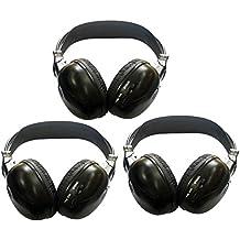 3 Paquete de Dos Canal plegable universal Cabeza IR Auriculares infrarrojos trasero Sistema de entretenimiento inal