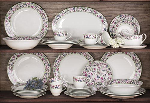 35 Piece Bloomsbury Floral Dinner Set