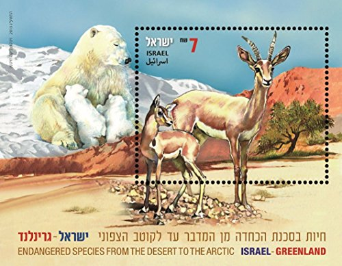 israel-stamps-israel-greenland-2013-collection-album-philately-bear-gazelle-mnh