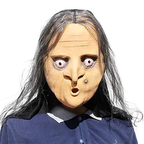 Neuheit Alte Hexe Latex Maske - Super für Halloween Partys, Dekorationen - Trick & Treaters Verkleiden Karneval
