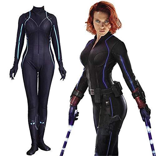 LANVERA Cosplay Kostüm Halloween Event Kleidung, Avengers 4 Schwarze Witwe siamesische Strumpfhose Kids-S