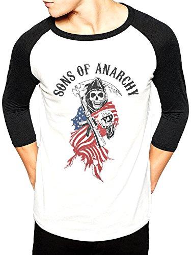 CID Men's Sons Of Anarchy-Reaper Skull USA Long Sleeve Tops, White, Medium:  Amazon.co.uk: Clothing
