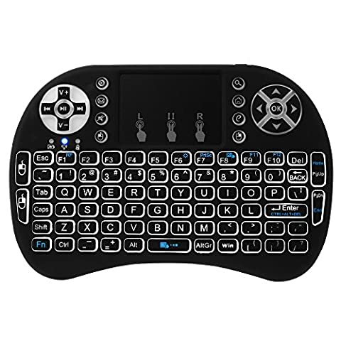 XCSOURCE i8 Rücklicht Touchpad 2.4G Mini Wireless Tastatur & Maus Combo tragbar Hand Air fliegen Maus Für Google Android TV Box, PC, Xbox 360, PS3, HTPC AC397