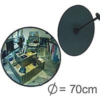 Profesional Observación Espejo überwachungsspiegel Seguridad Espejo Espejo de control, Convexo Espejo 70Cm, por fin sin tener que Tornillos al Ajustar del espejo
