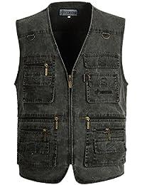034c9b0e408a2f AIVTALK Aitalk Herren Weste Ärmellos Westen Zip Up Sport Outwear mit  Reißverschluss Outdoor-Weste Baumwolle Jacke mit Vielen Praktischen…