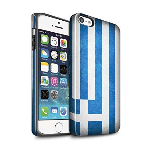 Stuff4® Glanz Harten Stoßfest Hülle/Case für Apple iPhone 5/5S / Griechenland/Griechisch Muster/Flagge Kollektion