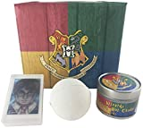 Harry Potter - Set de regalo para gorro de castaño con forma de bomba de baño, vela de jabón en la que tu casa estará a tu suerte. Baño y cuerpo sin espiral.