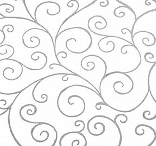 Zellophanfolie mit silberfarbener Schleife, 3 m x 80 cm, silberfarben - von einer großen Rolle abgeschnitten und für den Versand zusammengefaltet