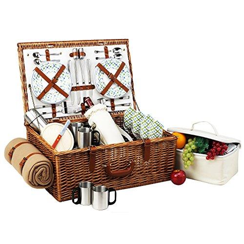 Picknick bei Ascot Dorset englische Weide Picknickkorb mit Service für 4 Personen 9.25