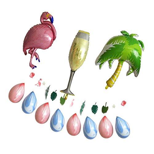 MagiDeal Hawaiian Helium Folie Ballon Flamingo Palme Geburtstag Dekoration Luftballon für Hawaiian Luau Party
