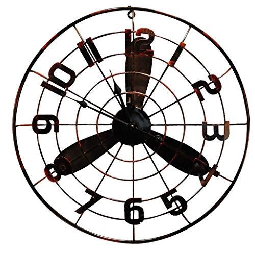 Jue Wanduhr, industrielle Retro Electric Fan Wanduhr Batteriebetrieb Silent Wohnzimmer Schlafzimmer Kreative Eisen Quarzuhr, dekorative Kunsthandwerk