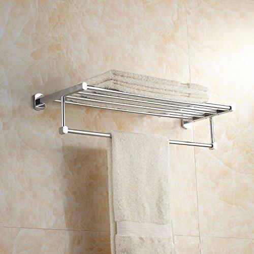 KHSKX Quadrato piccolo rame inox single tier portasalviette in acciaio inossidabile Portasalviette mensola porta asciugamani
