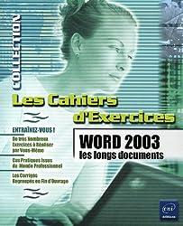 Word 2003 : Les longs documents