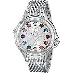 Fendi Crazy Carats F105036000T05 38mm Silver Steel Bracelet & Case Synthetic Sapphire Women's Watch