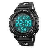 Herren Armbanduhr Digital Sport LED Military 50 m Wasserdicht Handgelenk Uhren Elektronischer Armee Alarm Stoppuhr
